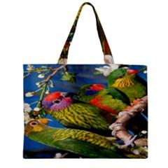 Beautifull Parrots Bird Medium Zipper Tote Bag
