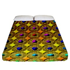 Background Tile Kaleidoscope Fitted Sheet (king Size)