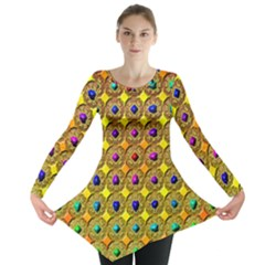 Background Tile Kaleidoscope Long Sleeve Tunic