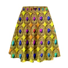 Background Tile Kaleidoscope High Waist Skirt