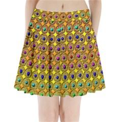 Background Tile Kaleidoscope Pleated Mini Skirt