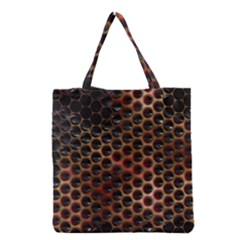 Beehive Pattern Grocery Tote Bag