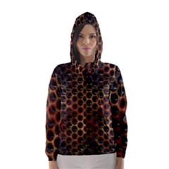 Beehive Pattern Hooded Wind Breaker (women)