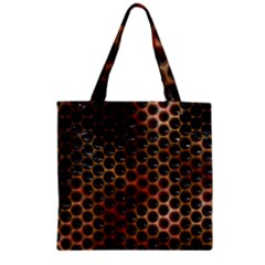 Beehive Pattern Zipper Grocery Tote Bag