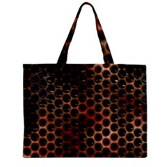 Beehive Pattern Zipper Mini Tote Bag