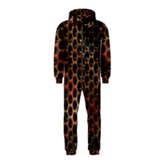 Beehive Pattern Hooded Jumpsuit (Kids)