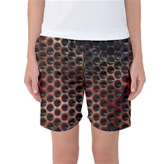 Beehive Pattern Women s Basketball Shorts