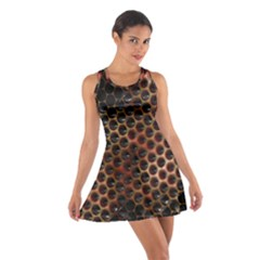 Beehive Pattern Cotton Racerback Dress