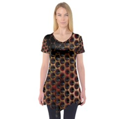 Beehive Pattern Short Sleeve Tunic