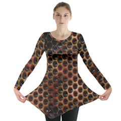 Beehive Pattern Long Sleeve Tunic