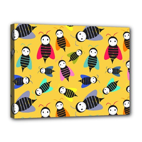 Bees Animal Pattern Canvas 16  x 12