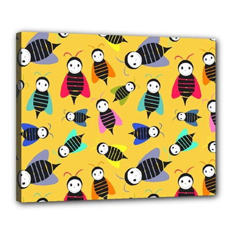 Bees Animal Pattern Canvas 20  x 16