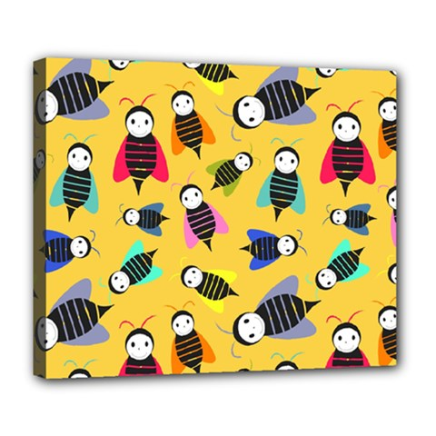 Bees Animal Pattern Deluxe Canvas 24  X 20