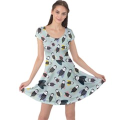 Bees Animal Pattern Cap Sleeve Dresses