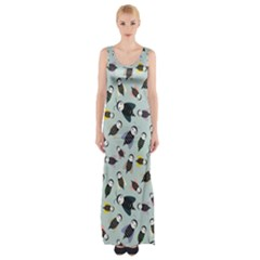 Bees Animal Pattern Maxi Thigh Split Dress