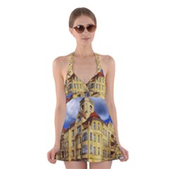Berlin Friednau Germany Building Halter Swimsuit Dress