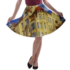Berlin Friednau Germany Building A-line Skater Skirt
