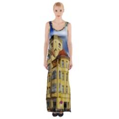 Berlin Friednau Germany Building Maxi Thigh Split Dress