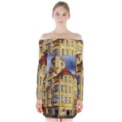 Berlin Friednau Germany Building Long Sleeve Off Shoulder Dress