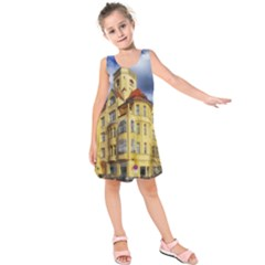 Berlin Friednau Germany Building Kids  Sleeveless Dress