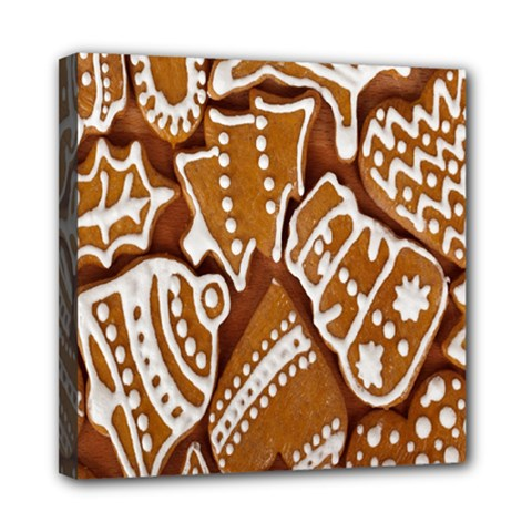 Biscuit Brown Christmas Cookie Mini Canvas 8  x 8