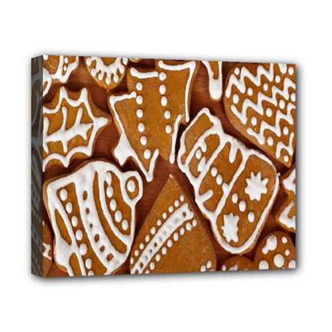 Biscuit Brown Christmas Cookie Canvas 10  x 8
