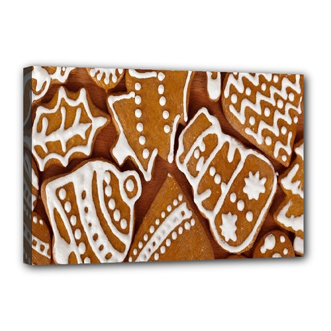 Biscuit Brown Christmas Cookie Canvas 18  x 12