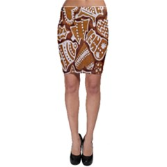 Biscuit Brown Christmas Cookie Bodycon Skirt