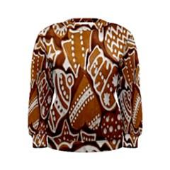 Biscuit Brown Christmas Cookie Women s Sweatshirt