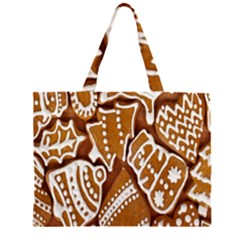 Biscuit Brown Christmas Cookie Large Tote Bag