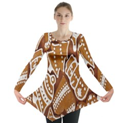 Biscuit Brown Christmas Cookie Long Sleeve Tunic