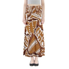 Biscuit Brown Christmas Cookie Maxi Skirts