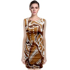 Biscuit Brown Christmas Cookie Classic Sleeveless Midi Dress