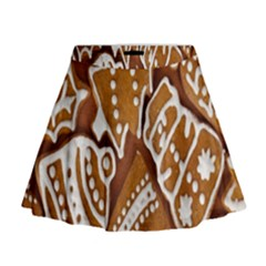 Biscuit Brown Christmas Cookie Mini Flare Skirt