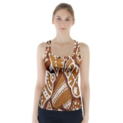 Biscuit Brown Christmas Cookie Racer Back Sports Top