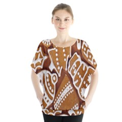 Biscuit Brown Christmas Cookie Blouse