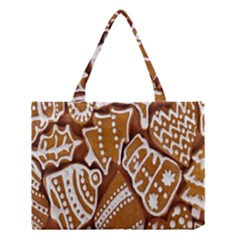 Biscuit Brown Christmas Cookie Medium Tote Bag