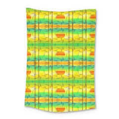 Birds Beach Sun Abstract Pattern Small Tapestry