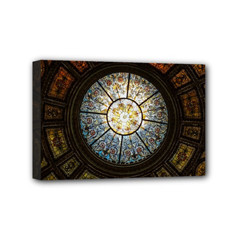 Black And Borwn Stained Glass Dome Roof Mini Canvas 6  x 4