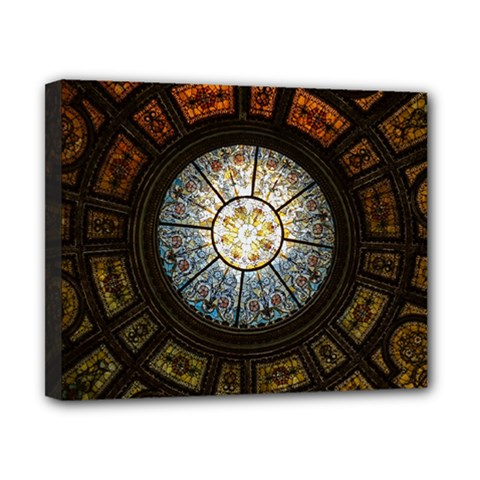Black And Borwn Stained Glass Dome Roof Canvas 10  X 8