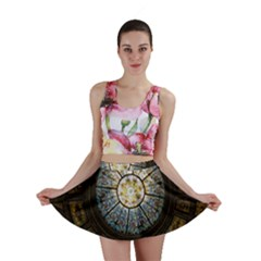 Black And Borwn Stained Glass Dome Roof Mini Skirt