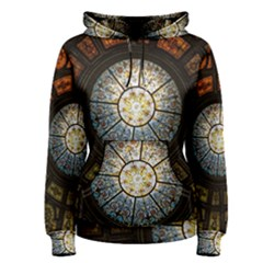 Black And Borwn Stained Glass Dome Roof Women s Pullover Hoodie