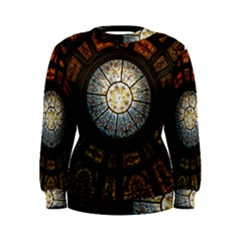 Black And Borwn Stained Glass Dome Roof Women s Sweatshirt