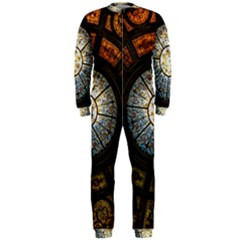 Black And Borwn Stained Glass Dome Roof OnePiece Jumpsuit (Men)