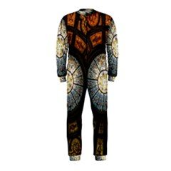 Black And Borwn Stained Glass Dome Roof OnePiece Jumpsuit (Kids)