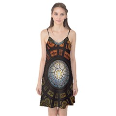 Black And Borwn Stained Glass Dome Roof Camis Nightgown
