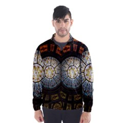 Black And Borwn Stained Glass Dome Roof Wind Breaker (Men)