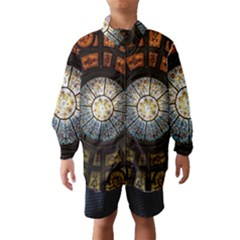 Black And Borwn Stained Glass Dome Roof Wind Breaker (Kids)