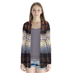 Black And Borwn Stained Glass Dome Roof Cardigans