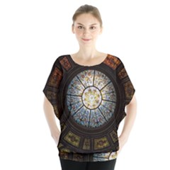 Black And Borwn Stained Glass Dome Roof Blouse